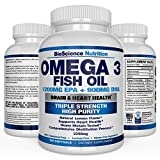 Omega 3 Fish Oil 2250mg | HIGH EPA 1200MG + DHA 900MG Triple Strength Burpless Capsules | 120 Pills | BioScience Nutrition