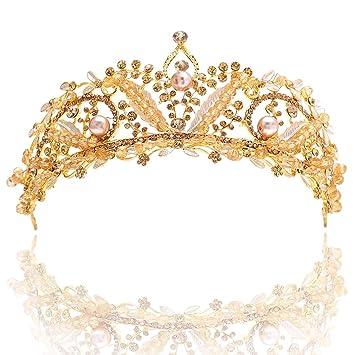 Bridal Bridesmaid Diamante Crystal Rhinestone Pearl Headband Wedding Prom Tiara
