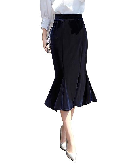 Mujer Maxi Falda Elástica Tallas Grandes Faldas De Fiesta Largas ...