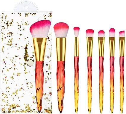 Juego de 7 brochas de maquillaje profesionales con soporte para brochas y pinceles de maquillaje, elegante estuche presentado en una bonita caja de regalo para damas: Amazon.es: Belleza