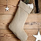 VHC Brands Burlap Natural Stocking 11x15