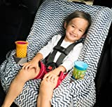 Niko Easy Wash Children's Car Seat Cover & Liner - Minky - Universal FIT - Crash Tested - Waterproof SEAT Bottom - Mess Protection - Easy to Clean - Machine Washable