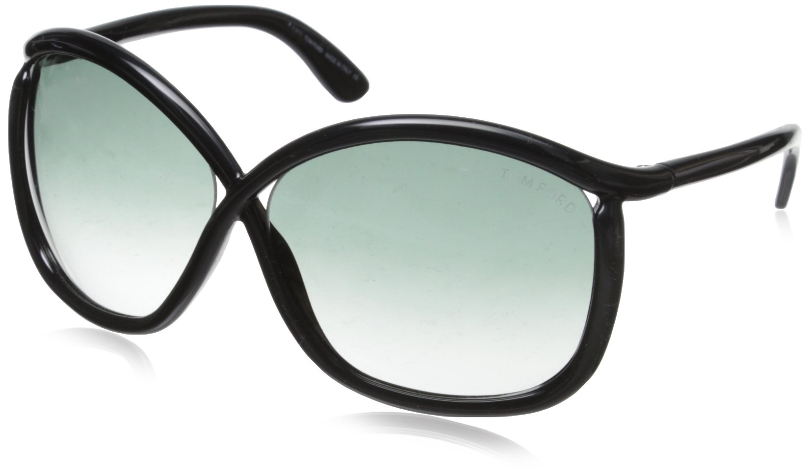 Tom Ford Charlie FT0201 Sunglasses-01B Black (Gray Gradient Lens)-64mm