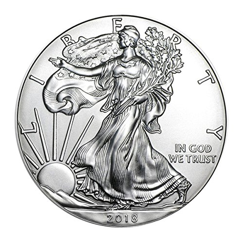 (2018 American Silver Eagle with Airtite Holder .999 Fine Silver Dollar Brilliant Uncirculated)