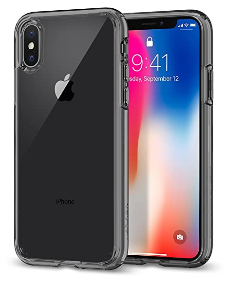 coque iphone x transparente bord or