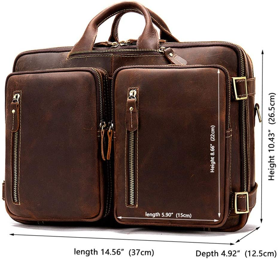 Notebook Backpack ZWJJQBJBB Laptop Bag Large Capacity Multi-Pocket Waterproof Men and Women Shoulder Portable Fashion Portable Business Leisure Travel Briefcase Color : C, Size : 15 inches