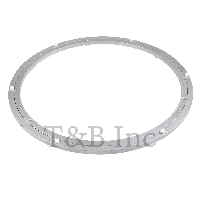 tu0026b 20 inch diameter aluminum metal lazy susan hardware rotating turntable bearings swivel plate 500mm silver