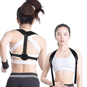 Back Posture Corrector for Men & Women, Breathable Comfortable Upper Back Brace Trainer- Stay