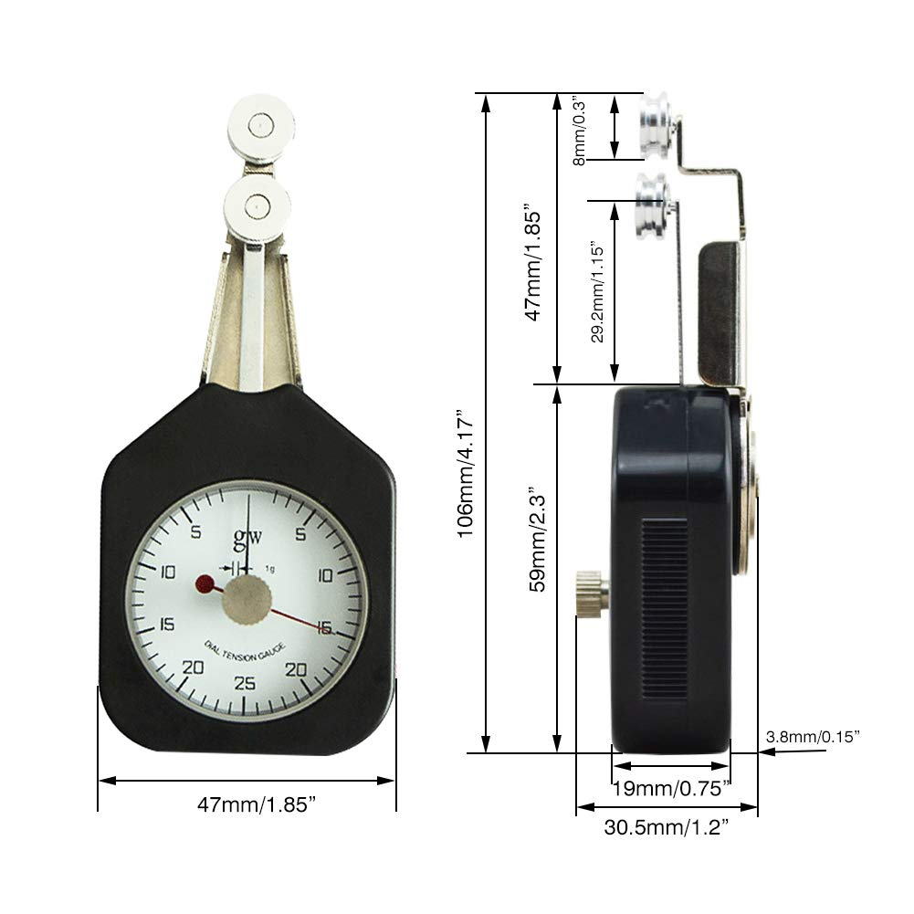 Tensiómetro de textil con puntero y cristal transparente de alta precisión de alta precisión, rango de medición amplio de ± 1% 25-2-25: Amazon.es: Bricolaje ...