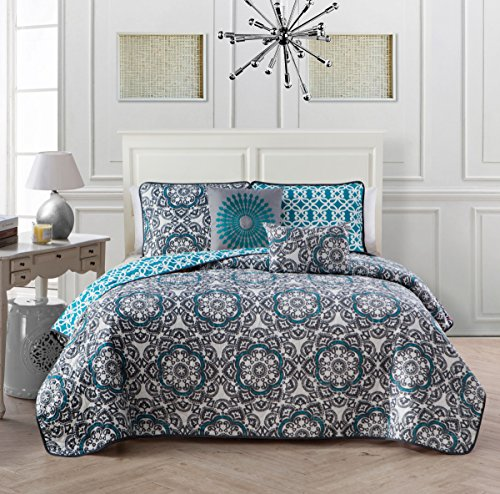 Avondale Manor 5-Piece Sedona Quilt Set, Queen, Spice