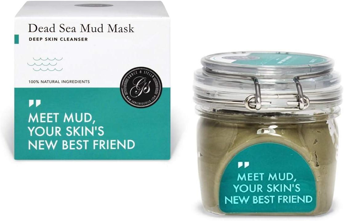 Mascarilla barro de mar muerto (200g) - faciales de mar muerto arcillas pura purificante máscara negros aloe vera acne hidratante facial
