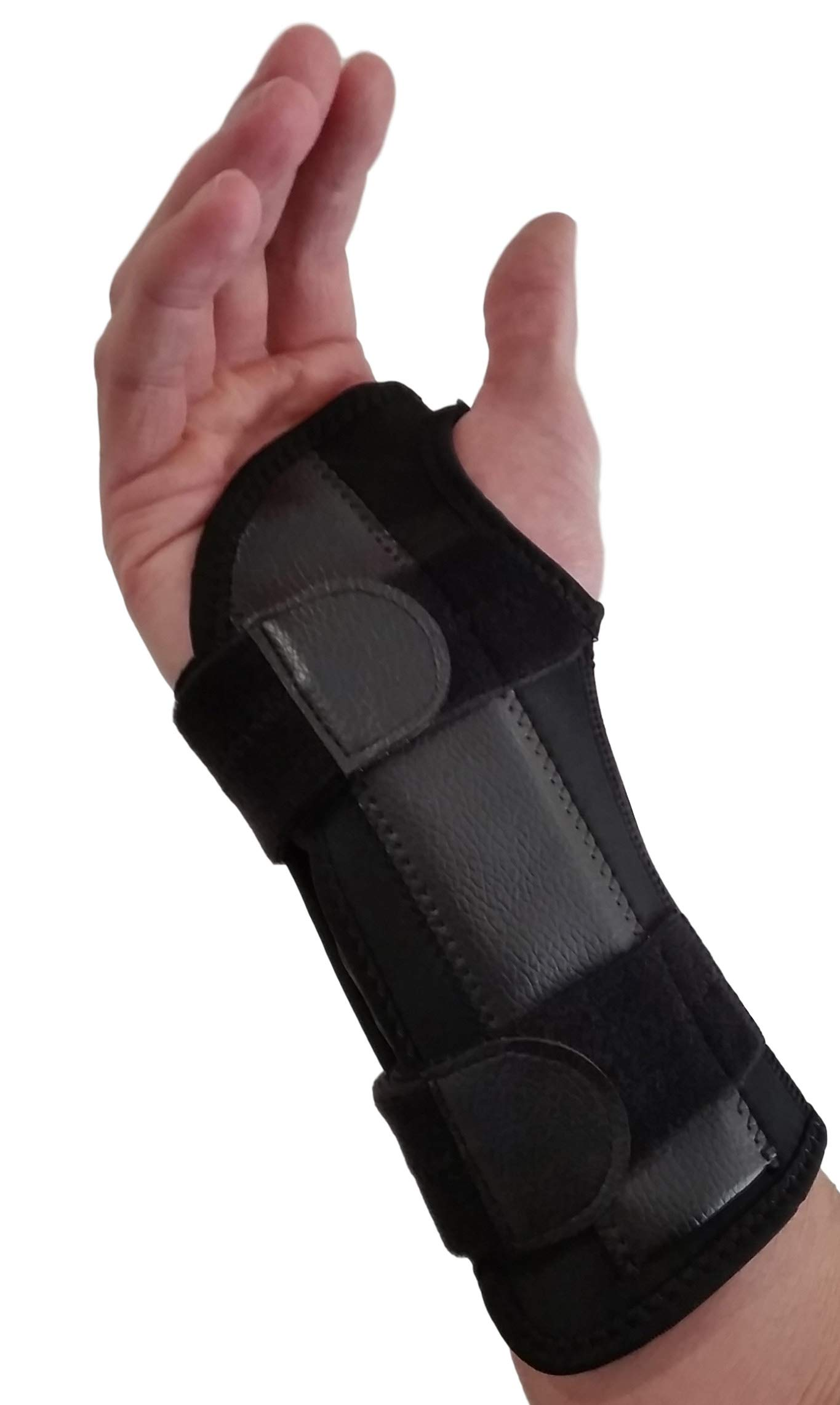 Carpal Tunnel Wrist Brace Night Support - Wrist Splint Arm Stabilizer & Hand Brace for Carpal Tunnel Syndrome Pain Relief with Compression Sleeve for Forearm or Wrist Tendonitis Pain Treatment (Right) by ARMSTRONG AMERIKA (Image #1)