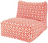 Majestic Home Goods Aruba Bean Bag Chair Lounger, Orange