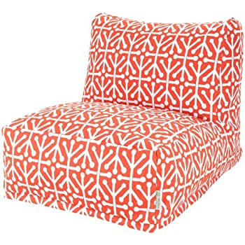 Majestic Home Goods Aruba Bean Bag Chair Lounger Orange