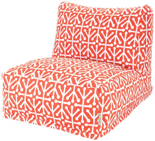 Majestic Home Goods Aruba Bean Bag Chair Lounger, Orange by Majestic Home Goods