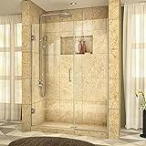 DreamLine Unidoor Plus 58-58 1/2 in. Width, Frameless Hinged Shower Door, 3/8'' Glass, Brushed Nickel Finish