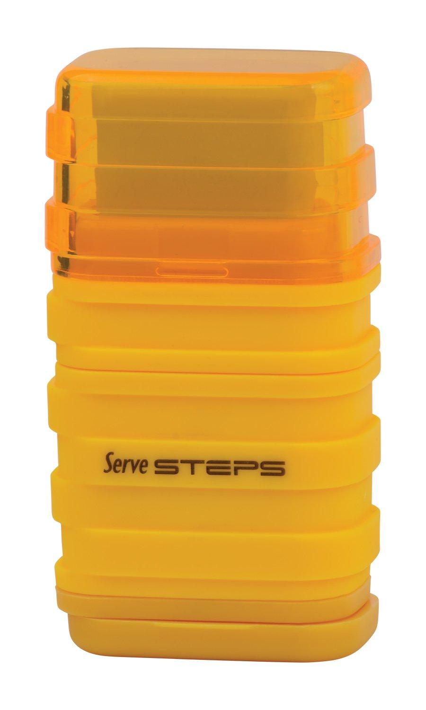 Serve SV Step S9KT Steps Eraser and Sharpner One Body Paper Box, Pack of 9-Fluorescent Colors by Serve (Image #7)