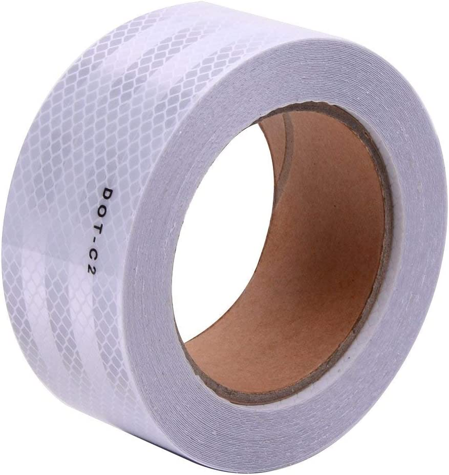 "White DOT-C2 Conspicuity Reflective Tape - 2"" Inch X 50' Feet"