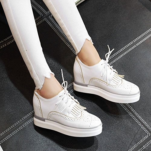 Latasa up Oxford Tassel Womens Platform Lace Wedges White Inside Shoes Rq1RSrwx