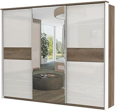 Armario Dormitorio Marrón Oscuro 225 x 278 x 64 cm, armario de puertas correderas: Amazon.es: Bricolaje y herramientas