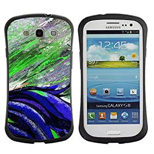 Hybrid Anti-Shock Bumper Case for Samsung Galaxy S3 / Beautiful Abstract Painting