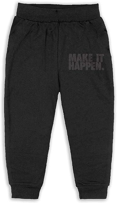 LFCLOSET Children Active Jogger Sweatpants Basic Elastic Sport Pants Black