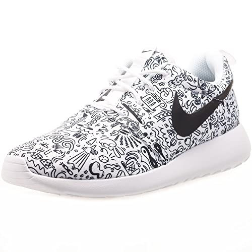 NIKE Roshe One Print Premium White/Black (Womens) (40 -)