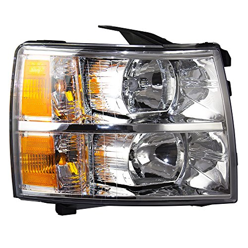 Passengers Headlight Headlamp Lens Replacement for Chevrolet Pickup Truck 22853028 ()