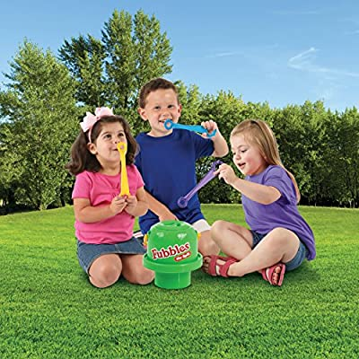 Little Kids Fubbles No-Spill Big Bubble Bucket in Blue for Multi-Child Play, Made in the USA: Toys & Games