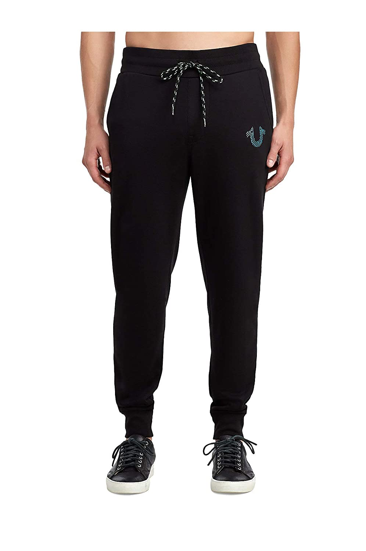 f229c9140 Amazon.com  True Religion Motherboard Horseshoe Black Sweatpants  Clothing
