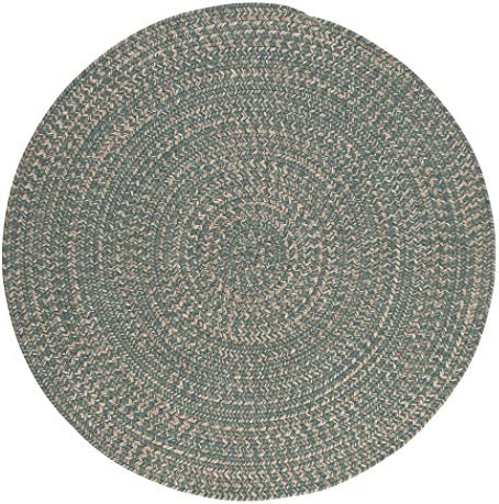 Tremont Round Area Rug, 6 by 6-Feet, Teal
