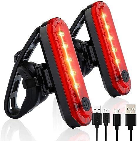 XXZ Luz Trasera para Bicicleta Recargable USB Super Brillante Rojo ...