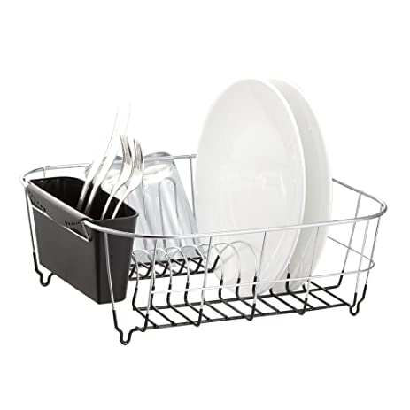 Amazon.com - Deluxe Chrome-plated Steel Small Dish Drainers (Black) -