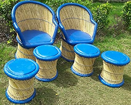 PatioStack Patio Outdoor Furniture for Garden/Terrace/Lawn and Balcony [ 2 Chairs & 4 Stools ]