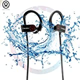 CHKOKKO Mercury M2 Waterproof Bluetooth Earphones with Deep Bass with Silicon Hooks Black