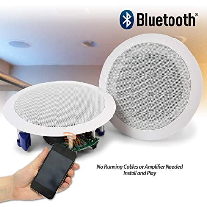 Power Dynamics Ceiling Speakers 60w Wireless Bluetooth Audio Streaming Home Audio Living Room