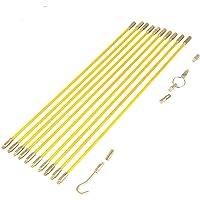 10PCS Alambre Eléctrico Cinta de pescado Cable Kit de fibra de vidrio Extractor coaxial Varillas corrientes