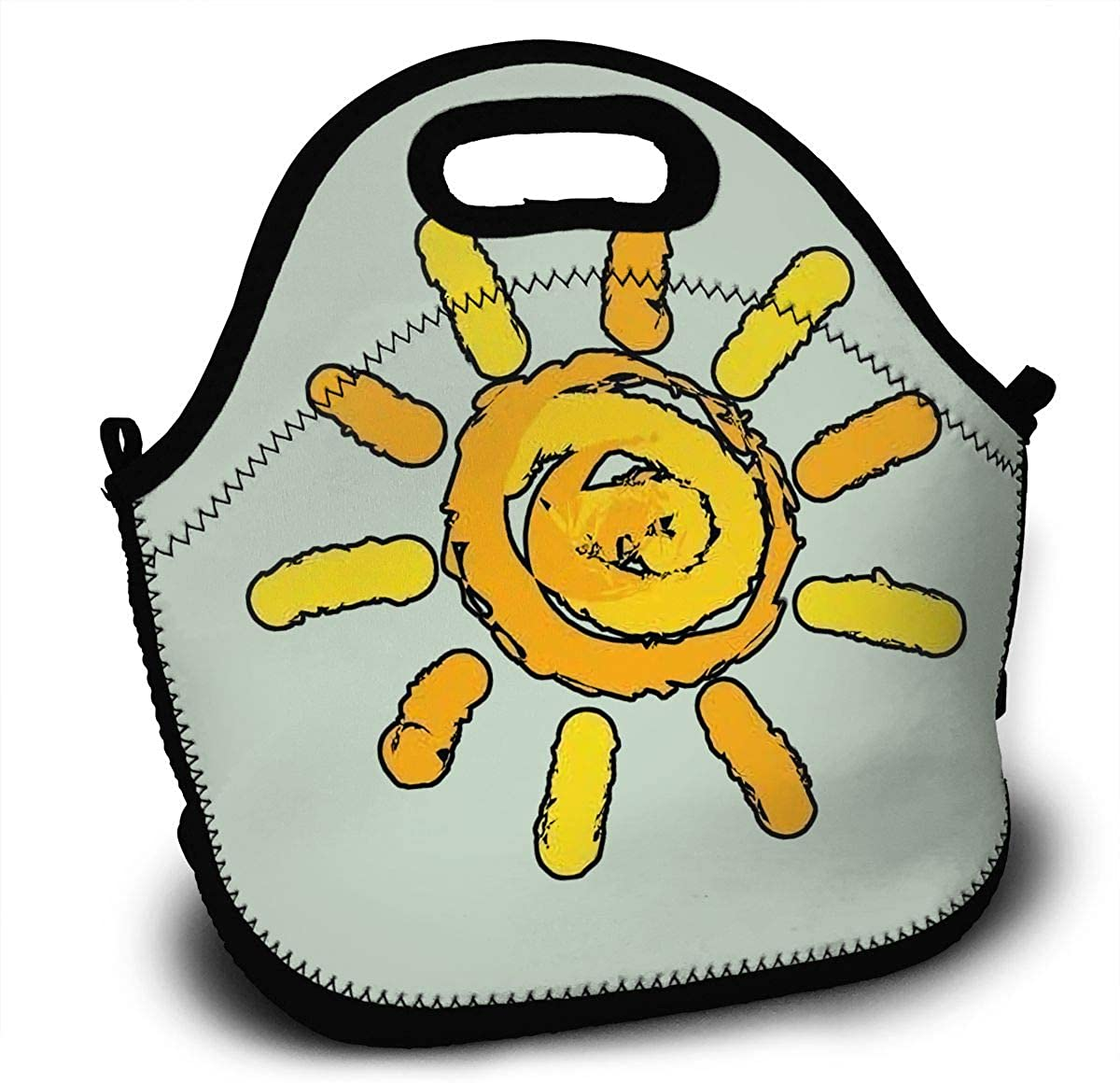K1DUVXF Sunshine Summer Mens Graphic Home Handbag For Young And Old Women Black