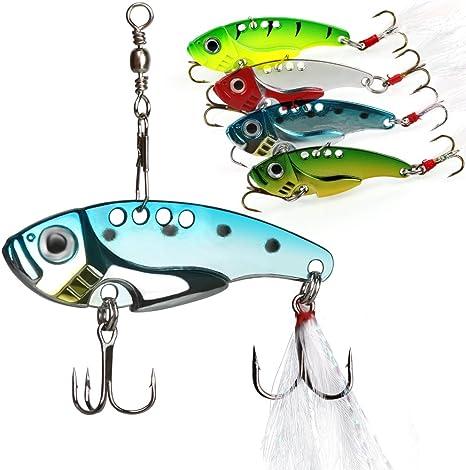 4PCS Mix Color Fishing Spoon Lure Swim Bait Artificial Trout Lure Fishing Tackle