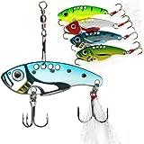 Details about  /3 20g VIB Freshwater Rotation Sequin Lure Fishing Tackle Orange Black Back Dot