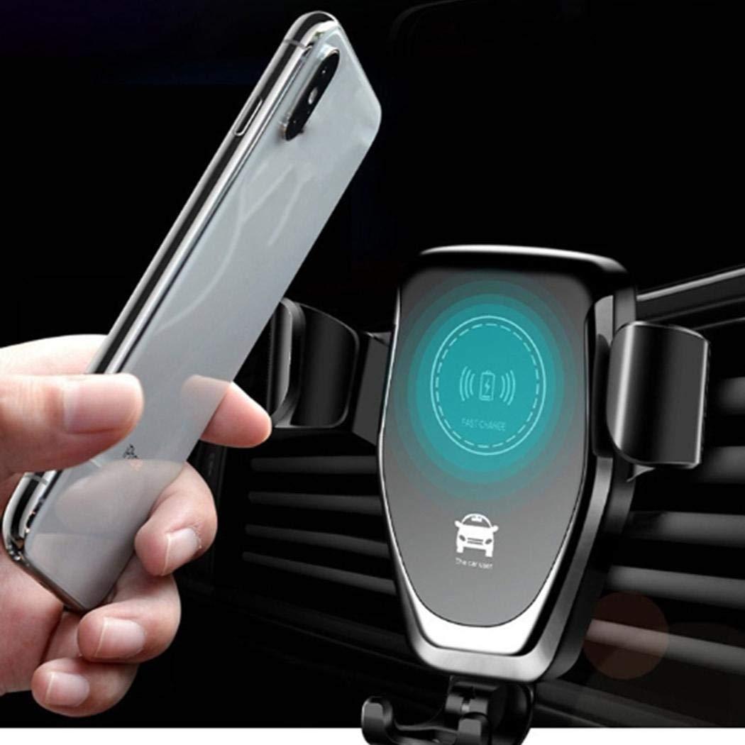 pikins Caricabatteria da Auto Caricabatterie Wireless con Staffa a gravit/à per Presa dAria a Carica Rapida Caricabatterie per Auto