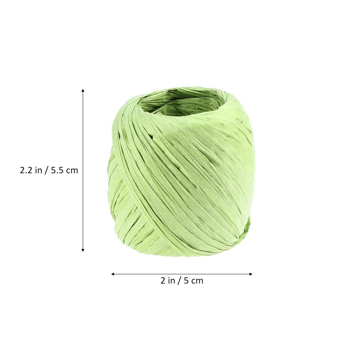 SUPVOX 10pcs Rouleau Papier Raphia Papier Artisanat Ruban Emballage Papier Ficelle pour Bricolage Artisanat Cadeaux Emballage /œuvres dart Vert