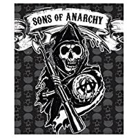 "SOA Sons of Anarchy Mink to Sherpa Throw 50"" X 60"" Official Licensed Blanket High Quality"