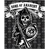 Sons of Anarchy SOA - Visón para Sherpa Throw, 127 x 152,4 cm, licencia oficial, manta de alta calidad