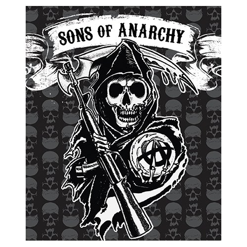 Soa Sons Of Anarchy Mink To Sherpa Throw 50  X 60  Official Licensed Blanket High Quality