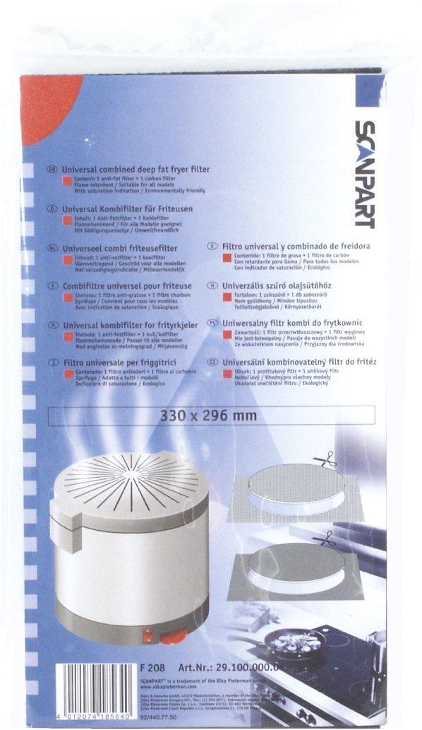 SCANPART filtro alternativa friggitrice, uso universale 2910000004 Sanpart