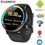 "LEMFO LEMX Smart Watch Phone 4G LTE - Android 7.1 2.03"" Screen MTK6739 1GB+16GB 8MP Translator GPS WiFi Heart Rate Monitor Smartwatch for Men Women"