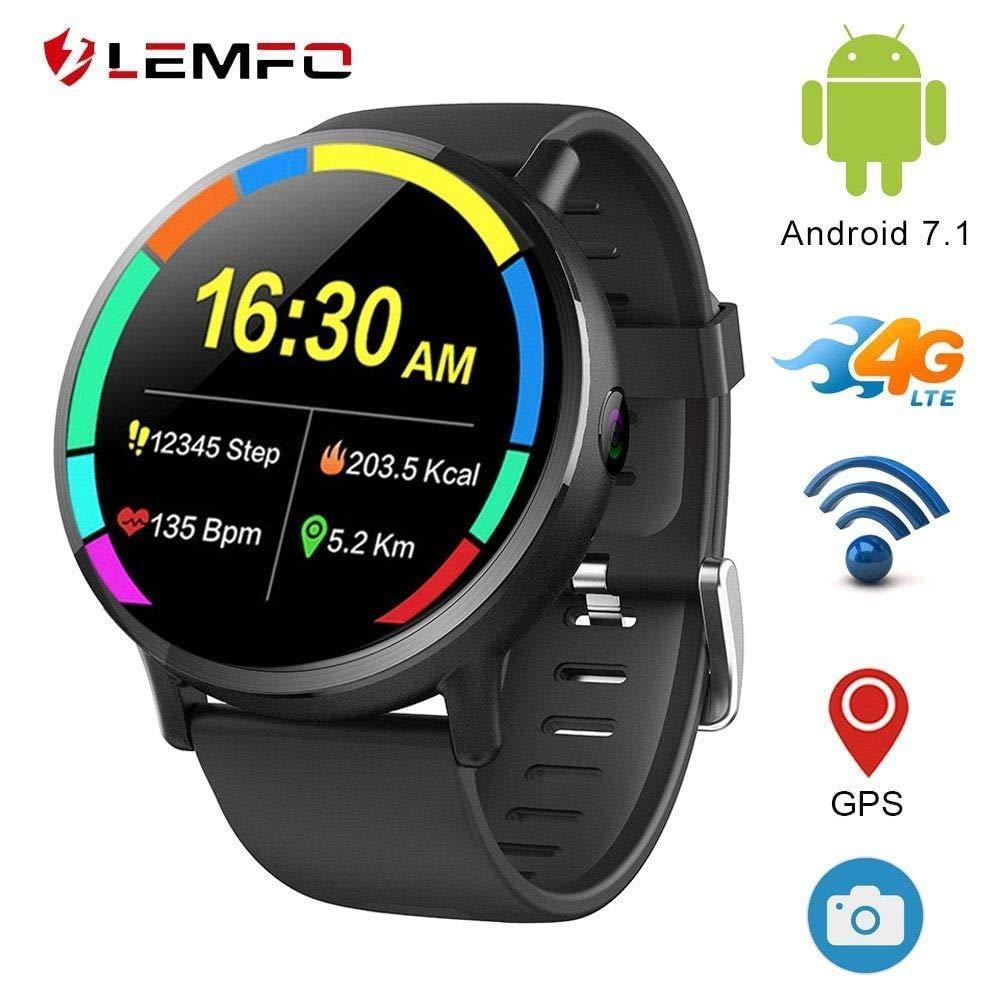 Lemfo Lemx Smart Watch Phone 4g Lte Android 7 1 2 03 Screen Mtk6739 1gb 16gb 8mp Translator Gps Wifi Heart Rate Monitor Smartwatch For Men Women