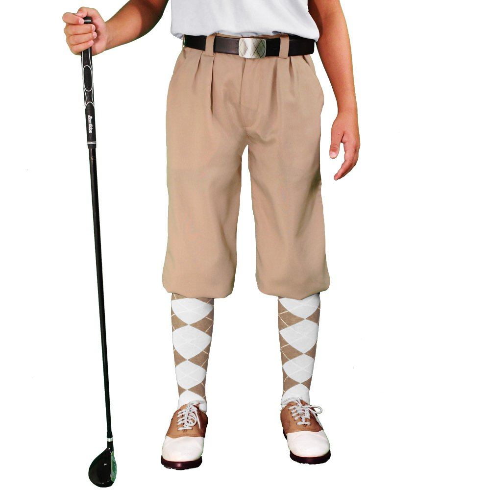 1930s Women's Pants and Beach Pajamas Khaki Golf Knickers - Youth Par 3 - Microfiber $69.95 AT vintagedancer.com