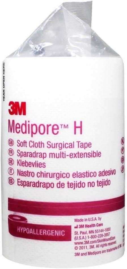 "3M Medipore H Cloth Tape 4"" x 10 yd QTY: 1"